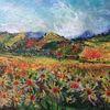 Acrylmalerei, Herbst, Landschaft, Malerei