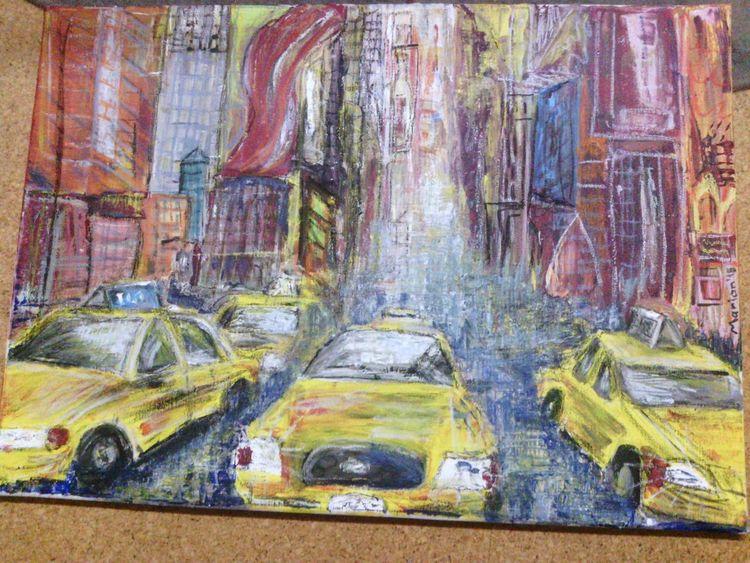 Malerei, Landschaft, Taxi