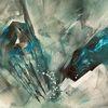 Kristall, Abstrakt, Eis, Malerei