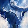 Erfrischend, Blau, Kälte, Malerei