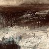 Abstrakt, Fantasie, Landschaft, Mischtechnik