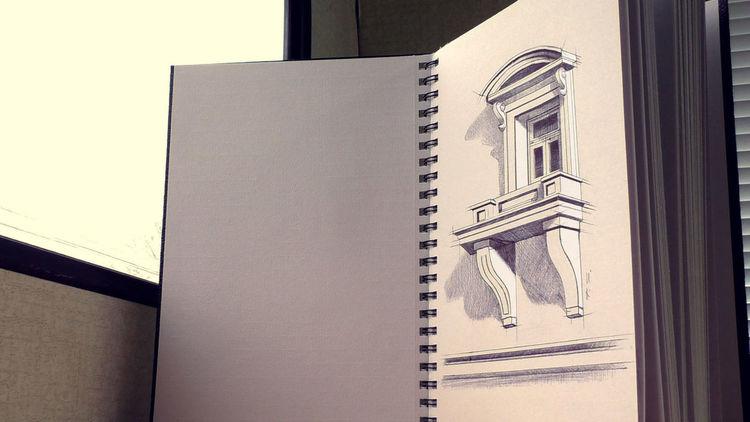 balkon zeichnung in 3d geht das 3d zeichnung skizze wie zeichnen licht schatten von. Black Bedroom Furniture Sets. Home Design Ideas
