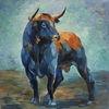 Ölmalerei, Tiere, Bulle, Malerei