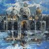 Abstrakt, Architektur, Ölmalerei, Gemälde