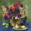 Stillleben, Leim, Ölmalerei, Blumen