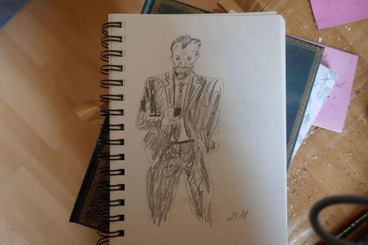 Bart, Mann, Bleistiftzeichnung, Zeichnung, Zeichnungen