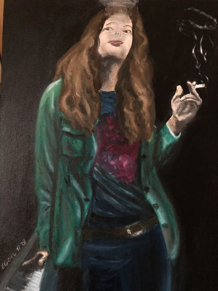 Malpappe, Menschen, Portrait, Mann, Ölmalerei, Malerei