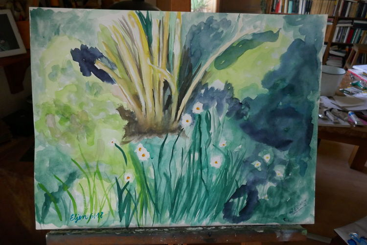 Sumpf, Aquarellmalerei, Natur, Landschaft, Aquarell