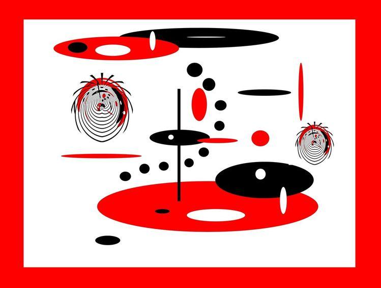 Pixelkunst, Ufos, Modern, Fantasie, Ausgleich, Kreis