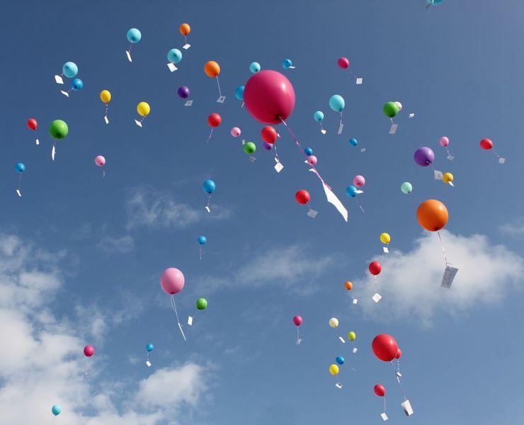 Modern, Zeitlos, Kraft, Himmel, Luftballon, Emotion
