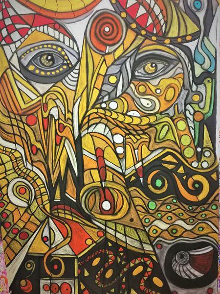 Fantasie, Bunt, Abstrakt, Wortlos, Augen, Malerei