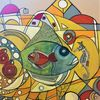 Fantasie, Fisch, Begegnung, Bunt