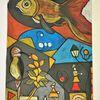 Fantasie, Fisch, Bunt, Abstrakt