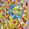 Fantasie, Fisch, Leuchtend, Abstrakt
