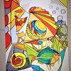 Abstrakt, Rund, Fisch, Fantasie
