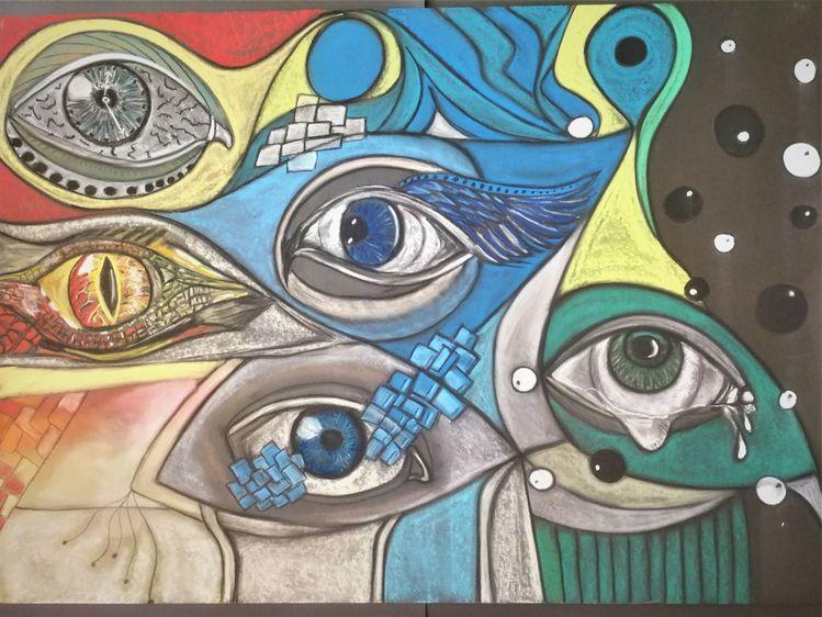 Abstrakt, Gestaltung, Augen, Fantasie, Wortlos, Bunt
