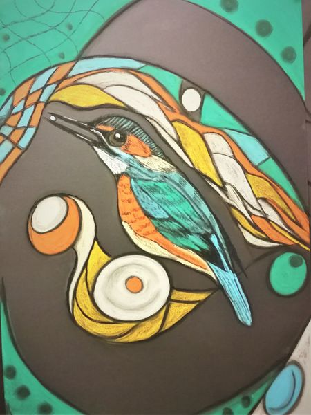 Fantasie, Vogel, Bunt, Abstrakt, Malerei
