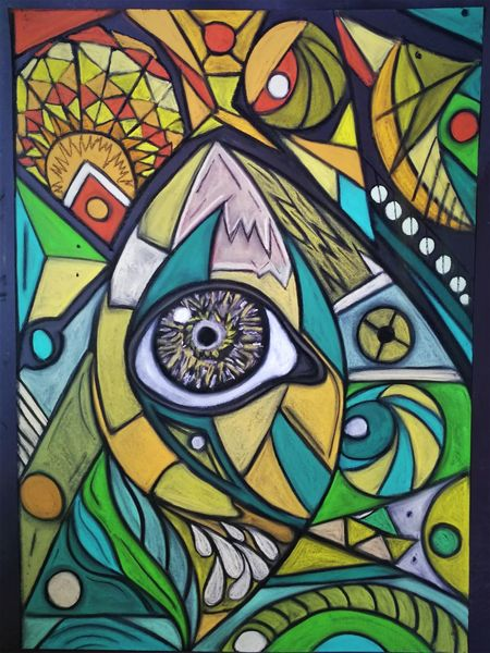 Fantasie, Augen, Abstrakt, Rund, Bunt, Leuchten