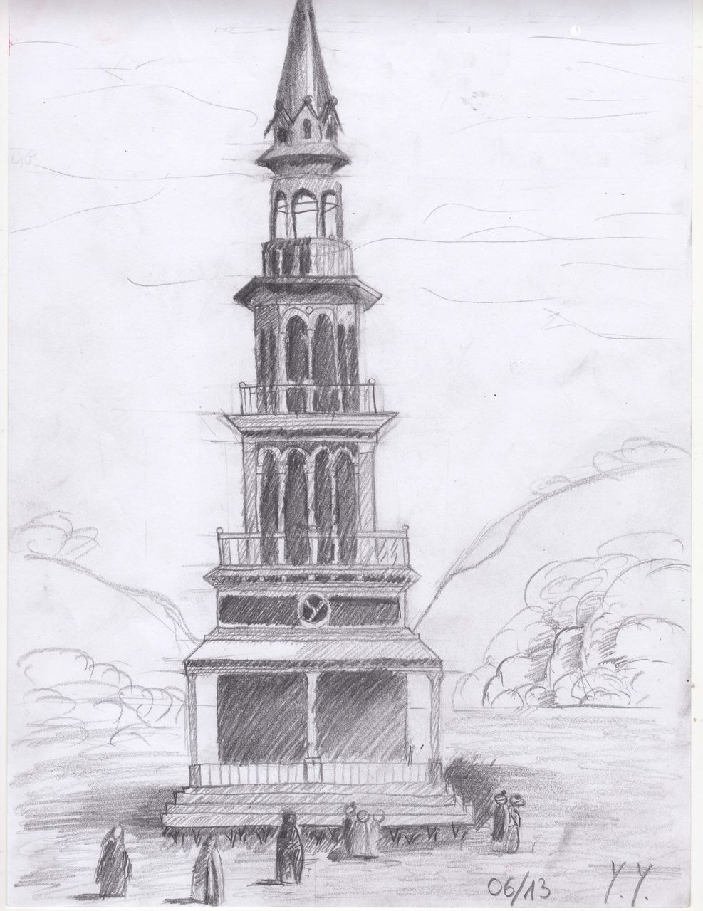 Bild zeichnungen architektur skizze von yeva bei kunstnet - Architektur skizze ...