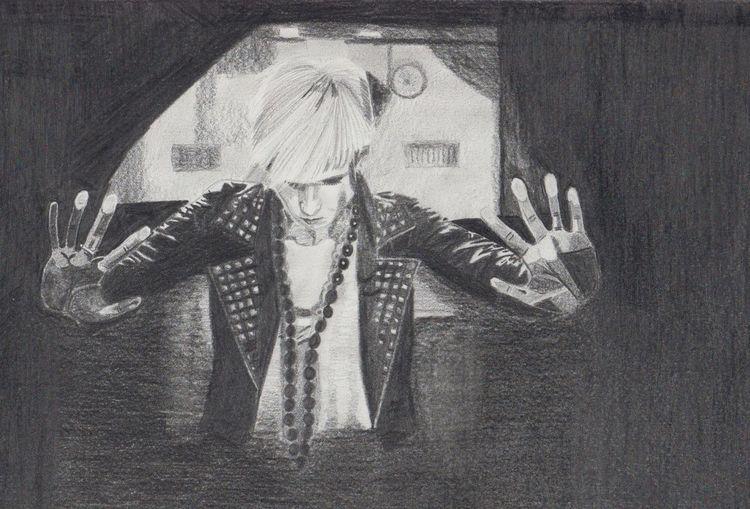 Portrait, Bleistiftzeichnung, Zeichnungen, Bahnhof