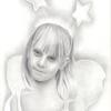 Fee, Zeichnung, Mädchen, Gesicht