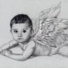 Zeichnung, Baby, Engel, Flügel