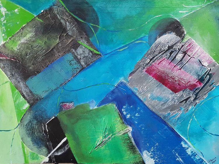 Abstrakt, Bunt, Geometrie, Malerei, Veränderung