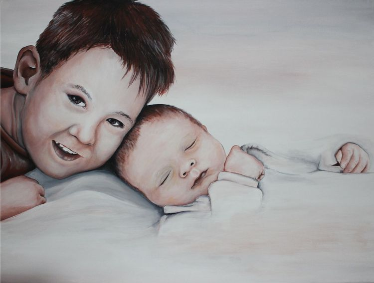 Acrylmalerei, Malerei, Kinder, Vergoldung