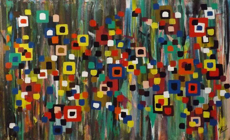 Abstrakte kunst, Leinenöl, Expressionistische kunst, Wettbewerb, Preis, Impressionismus
