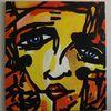 Doppelrahmen, Abstrakte malerei, Niedrig, Abstrakter expressionismus