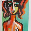 Reizvolle kunst, Malerei gesichter, Kunstausstellungen, Beliebte gemälde