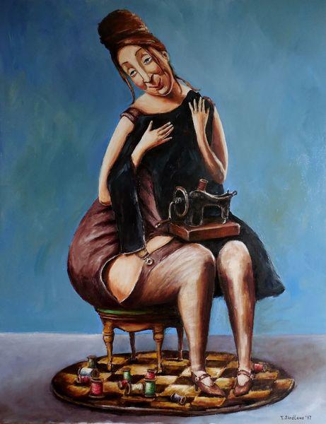 Портрет, Черный, Kleidung, Человек, Женщина, Картины