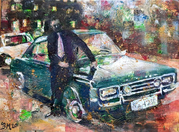 Ford, Oldtimer, Malerei,