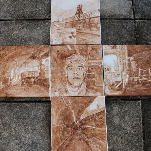 Endlager, Atomkraft, Salzgitter, Kreuz, Malerei, Welt