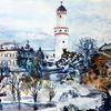 Bad homburg, Winter, Turm, Schnee