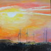 Sonne, Windkraft, Wind, Malerei