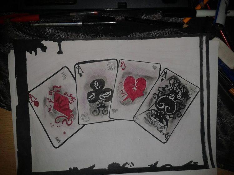 Rot schwarz, Zeichnung, Bleistiftzeichnung, Zeichnungen,