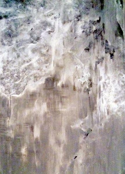 Acrylmalerei, Traurigkeit, Kalt, Stille, Schmerz, Dunkel