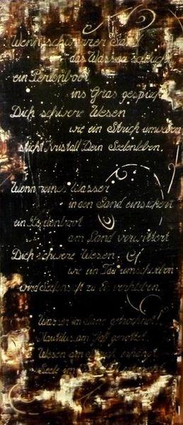 Gedicht, Fee, Traurigkeit, Acrylmalerei, Melancholie, Malerei