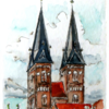 Zeichnung, Baukunst, Farben, Kloster jerichow