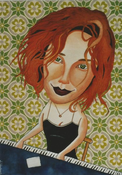 Musiker, Illustration, Musikant, Tori amos, Illustrationen,