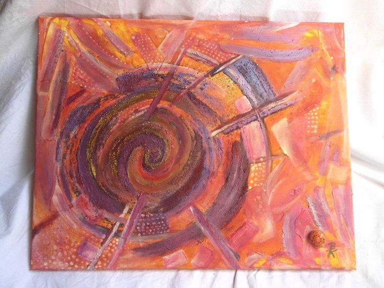 Energie, Weisheit, Pinsel, Acrylmalerei, Natur, Fluss