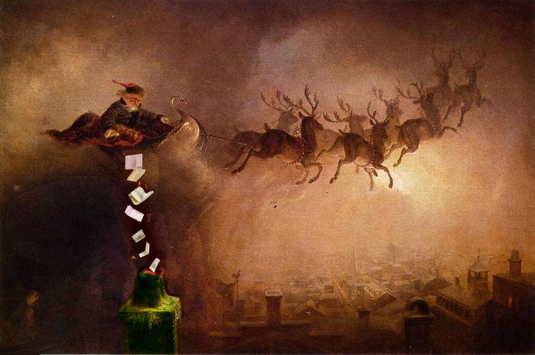 Geld, Macht, Glücklich, Illustrationen, Santa