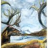 Rentier, Malerei, Zeichnung, Aquarellmalerei