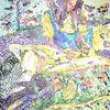 Gedanken - acryl, kunst, künstler, hintergrund, hintergründe, wunderschön, blau, pinsel, leinen, farbe, handwerk, entwurf, goldmedaille, grün, medien,Öl, originell, gemälde, muster, rosa, rot, spiegelung, gestalten, atelier, oberfläche, textur, weiß, gelb, Udo, vo