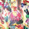 Herbstlaub - acryl, kunst, künstler, hintergrund, hintergründe, wunderschön, blau, pinsel, leinen, farbe, handwerk, entwurf, goldmedaille, grün, medien,Öl, originell, gemälde, muster, rosa, rot, spiegelung, gestalten, atelier, oberfläche, textur, weiß, gelb, Udo, vo