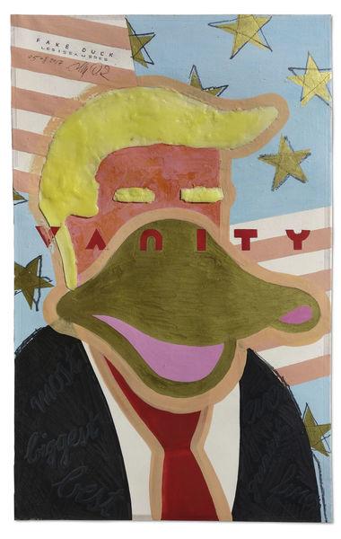 Eitelkeit, Präsident, Trump, Fake news, Amerika, Karikatur