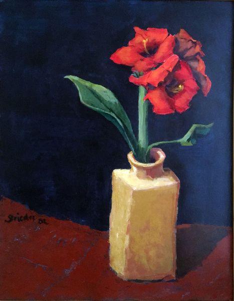 Blumen, Rot, Betörend, Vase, Sommer, Gelb