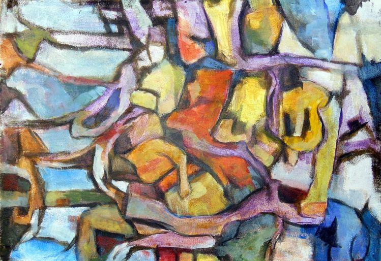 Fläche, Farben, Experimentell, Entstehung, Formen, Linie