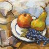 Apfel, Herbst, Trauben, Obst